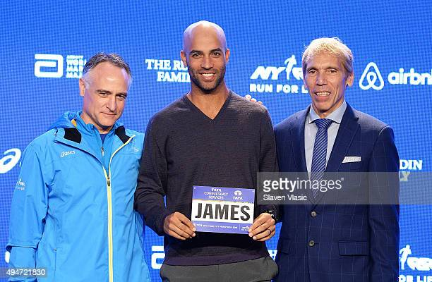 President and CEO of New York Road Runners, Michael Capiraso, former tennis player James Blake and president of events New York Road Runners race...