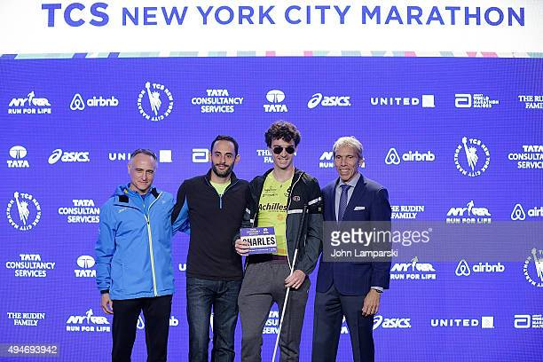 President and CEO of New York Road Runners, Michael Capiraso, runner with disabilities division, Charles-Edouard Catherine and president of events...