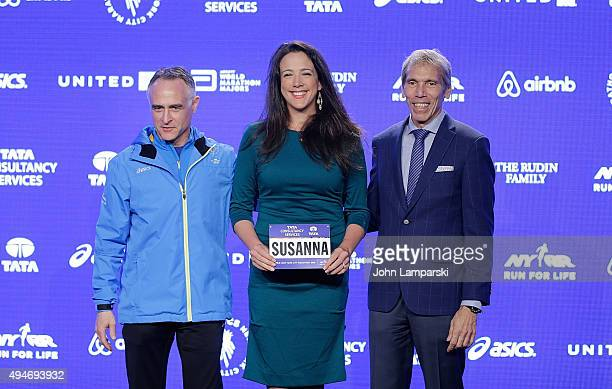 President and CEO of New York Road Runners, Michael Capiraso, Soprano from the New York Metropolitan Opera, Susanna Phillips and president of events...