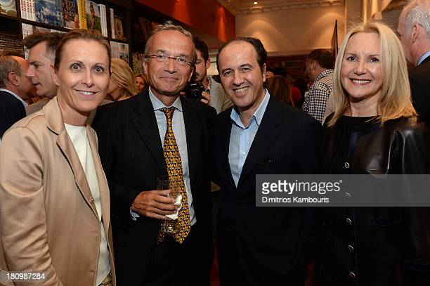 President and CEO of Reed Krakoff Valerie Hermann Global Vice Chair of Dentons Francois M Chateau Prosper Assouline and Marla Sabo attend ASSOULINE...