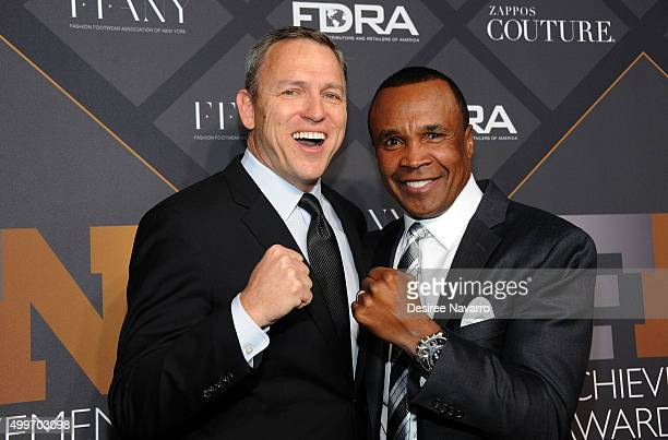 President and CEO of RG Barry Brands, Greg Tunney and Former professional boxer Sugar Ray Leonard attend the 29th FN Achievement Awards at IAC...