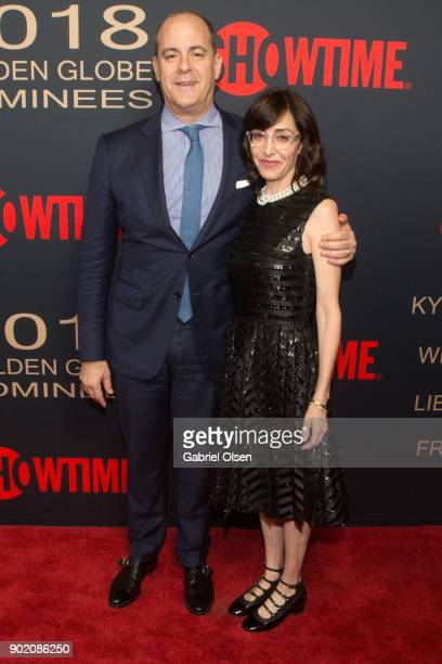 President and CEO of Showtime Networks David Nevins and Andrea Nevins arrive for the Showtime Golden Globe Nominees Celebration at Sunset Tower on...
