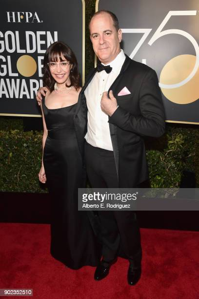 President and CEO of Showtime Networks David Nevins and Andrea Nevins attend The 75th Annual Golden Globe Awards at The Beverly Hilton Hotel on...