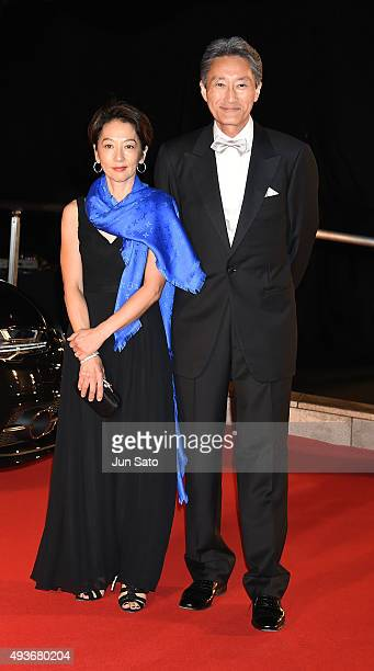 President and CEO of Sony Corporation Kazuo Hirai and Riko Hirai attend the 43attends the opening ceremony of the Tokyo International Film Festival...
