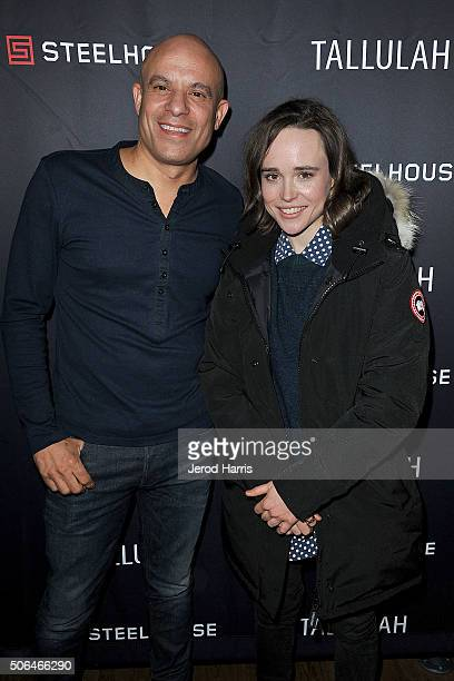 President and CEO of SteelHouse Mark Douglas and actress Ellen Page attend the SteelHouse Hosted Tallulah Cocktail Party at Sundance on January 23...