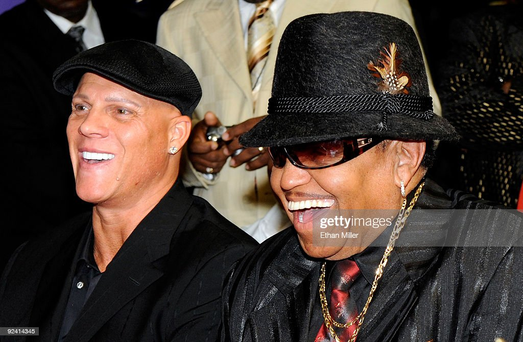 Johnny Brenden Presents Celebrity Star To Joe Jackson : News Photo