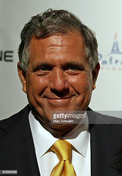 President and CEO of the CBS Corporation Leslie Moonves attends the grand opening of the CBS Scene Restaurant Bar on September 6 2008 in Foxboro...