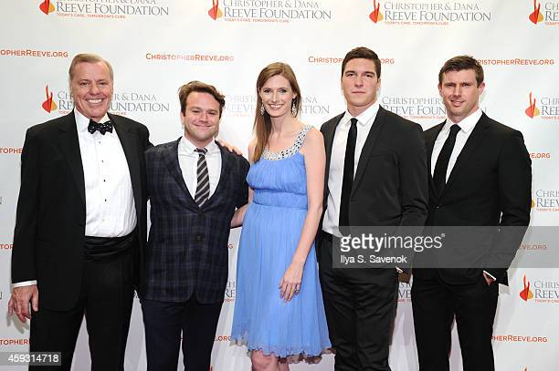 President and CEO of the Christopher Dana Reeve Foundation Peter Wilderotter Zak Williams Alexandra Reeve Givens William Reeve Matthew Reeve attend...
