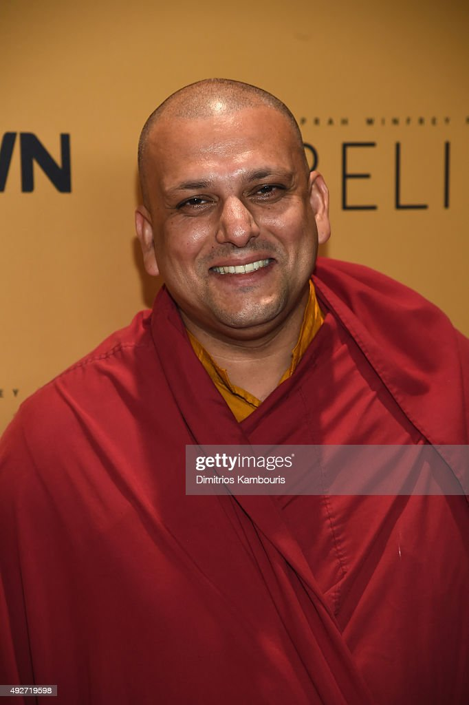 President and CEO of the Dalai Lama Center for Ethics and Transformative Values Tenzin Priyadarshi attends the 'Belief' New York premiere at TheTimesCenter on October 14, 2015 in New York City.
