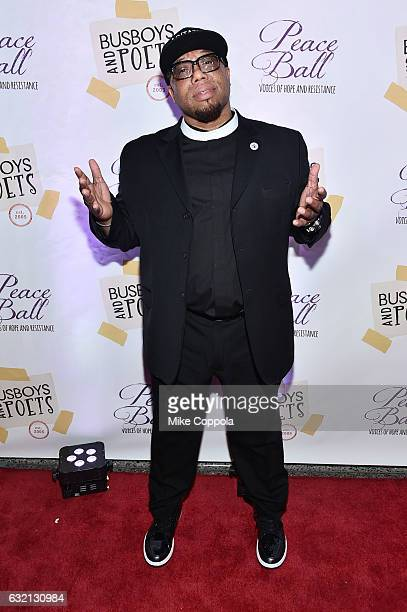 President and CEO of the Hip Hop Caucus Rev Lennox Yearwood Jr attends the Busboys and Poets' Peace Ball Voices of Hope and Resistance at National...