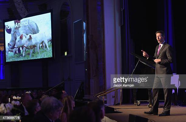 President and CEO of the Humane Society of the United States Wayne Pacelle speaks onstage during The Humane Society Of The United States' Los Angeles...