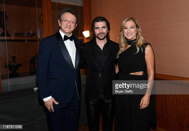 President and CEO of the Latin Academy of Recording Arts Sciences Gabriel Abaroa Jr honoree Juanes Recording Academy President and CEO Deborah Dugan...