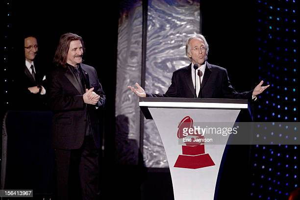 President and CEO of the Latin Academy of Recording Arts Sciences Gabriel Abaroa Jr President of The Latin Recording Academy Luis Cobos and President...