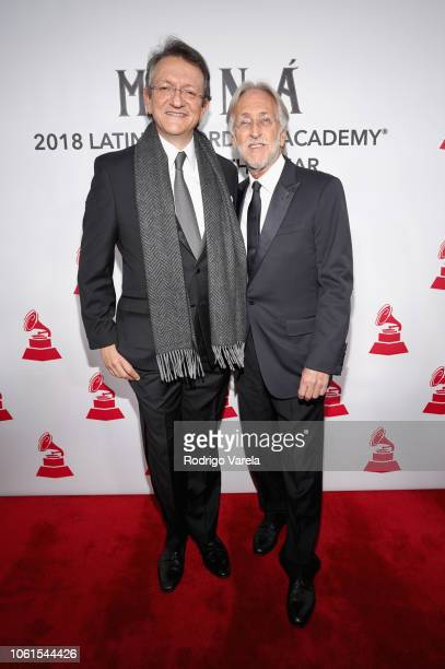 President and CEO of the Latin Recording Academy Gabriel Abaroa and The Recording Academy President Neil Portnow attend the Person of the Year Gala...