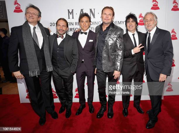 President and CEO of the Latin Recording Academy Gabriel Abaroa Sergio Vallin Juan Calleros Fher Olvera and Alex Gonzalez of Mana and The Recording...
