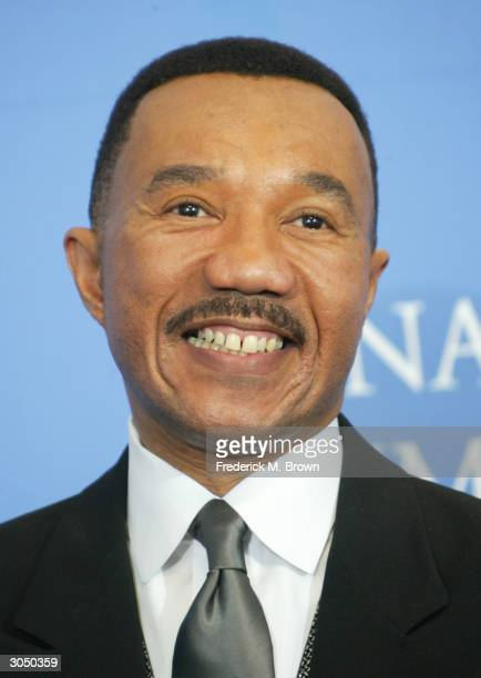 President and CEO of the NAACP Kweisi Mfume poses backstage at the 35th Annual NAACP Image Awards held at the Universal Amphitheatre March 6 2004 in...