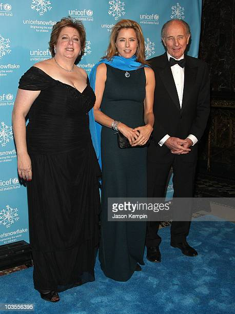 President and CEO of the US Fund for UNICEF Caryl Stern actress Tea Leoni and Anthony Pantaleoni arrive to the 2007 UNICEF Snowflake Ball at Cipriani...