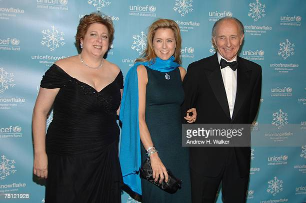 President and CEO of the US Fund for UNICEF Caryl Stern actress Tea Leoni and Anthony Pantaleoni attend the UNICEF 2007 Snowflake Ball presented by...