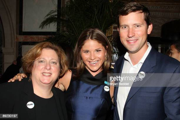 President and CEO of the US Fund for UNICEF Caryl Stern Jenna Bush Hager and Henry Hager attend the UNICEF Next Generation launch event at The Gates...