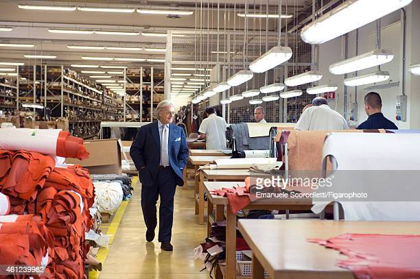 President and CEO of Tod's, Diego Della Valle is photographed at the Tod's factory for Le Figaro Magazine on July 29, 2014 in Casette d'Ete, Italy....