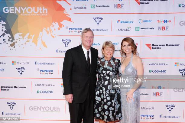 President and CEO of US Dairy Export Council Tom Vilsack Christie Vilsack and CEO of GENYOUth Alexis Glick attend the Second Annual GENYOUth Gala at...