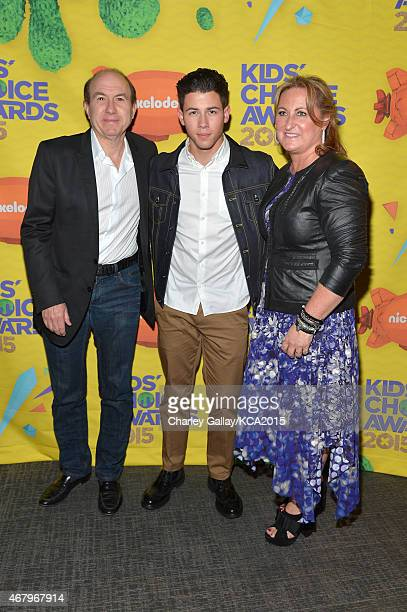 President and CEO of Viacom Philippe Dauman host Nick Jonas and President of Nickelodeon and Viacom Media Networks Kids Family Group Cyma Zarghami...