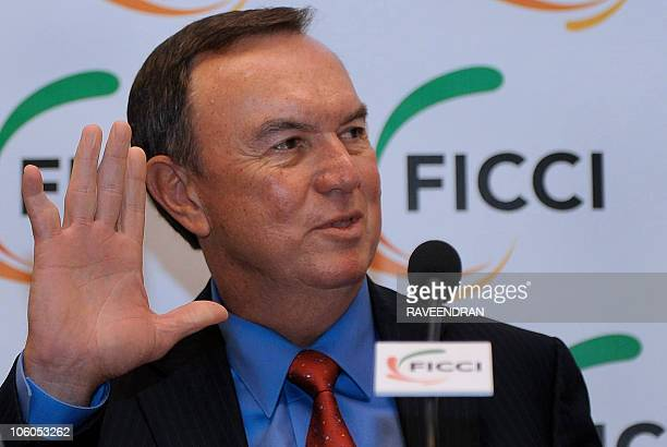 President and CEO of Walmart Stores Mike Duke attends an interactive meeting organised by the Federation of Indian Chambers of Commerce and Industry...