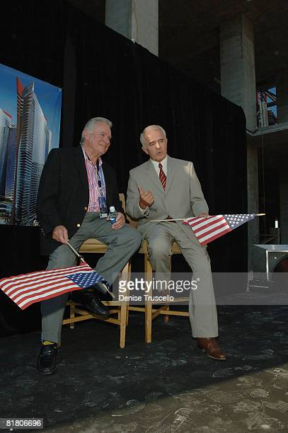President and CEO of Westgate Resorts David A Siegel and Govenor Jim Gibbons attend Planet Hollywood Towers by Westgate topping off at Planet...