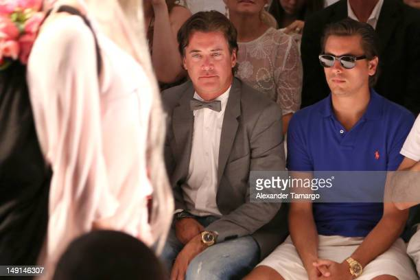 President and CEO of Wildfox Jimmy Sommers and Scott Disick attend the Wildfox Swim show during Mercedes-Benz Fashion Week Swim 2013 at The Raleigh...