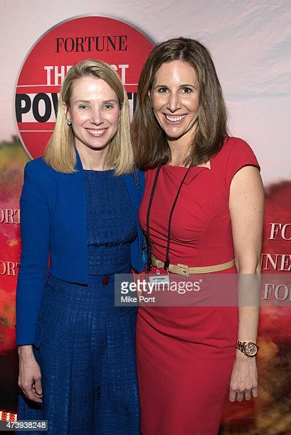 President and CEO of Yahoo Marissa Mayer and Fortune Magazine Assistant Managing Editor Leigh Gallagher attend Fortune Magazines 2015 Most Powerful...