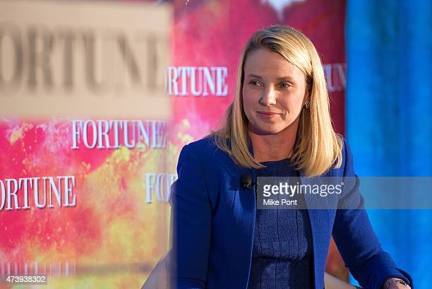 President and CEO of Yahoo Marissa Mayer attends Fortune Magazines 2015 Most Powerful Women Evening With NYC at Time Warner Center on May 18, 2015 in...