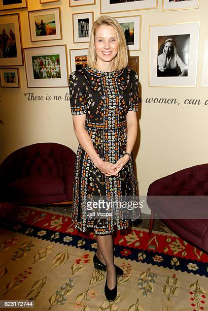 President and CEO of Yahoo Marissa Mayer attends Glamour Women Of The Year 2016 LIVE Summit at NeueHouse Hollywood on November 14 2016 in Los Angeles...