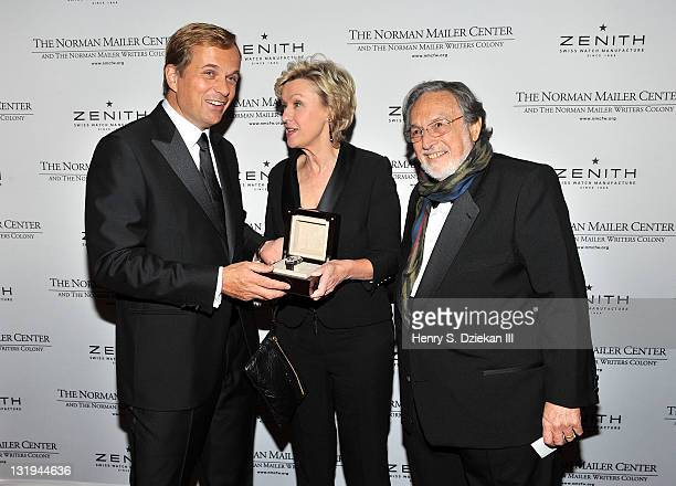 President and CEO of Zenith JeanFrederic Dufour Tina Brown and Lawrence Schiller attend the 3rd Annual Norman Mailer Center Gala at the Mandarin...