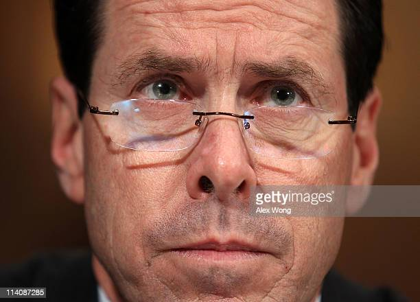 President and CEO Randall Stephenson testifies during a hearing before the Antitrust Competition Policy and Consumer Rights Subcommittee of the...