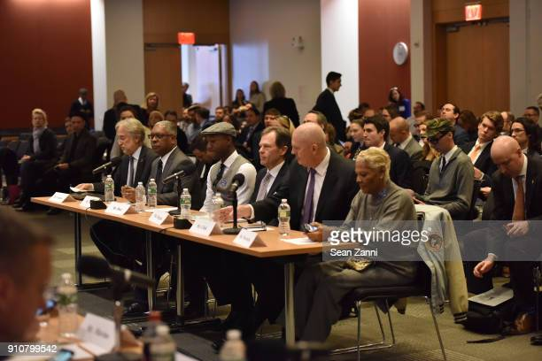 President and CEO Recording Academy Board Chair GRAMMY Museum® Neil Portnow Booker Jones Aloe Blacc Tom Douglas Mike Clink and Dionne Warwick attend...
