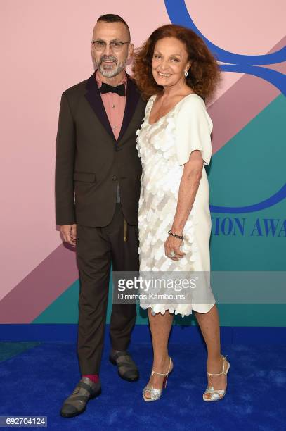 President and CEO Steven Kolb and Diane von Furstenberg attend the 2017 CFDA Fashion Awards at Hammerstein Ballroom on June 5 2017 in New York City