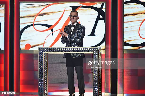 President and CEO Steven Kolb speaks onstage at the 2016 CFDA Fashion Awards at the Hammerstein Ballroom on June 6 2016 in New York City