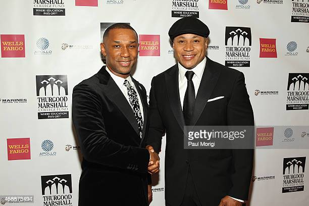 President and CEO Thurgood Marshall College Fund John Taylor Jr and rapper LL Cool J attend the Thurgood Marshall College Fund 26th Awards Gala at...