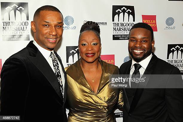 President and CEO Thurgood Marshall College Fund John Taylor Jr Grammy Awardwinning singer Regina Belle and singer Orlando Dixon attend the Thurgood...
