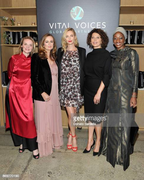 President and CEO Vital Voices Alyse Nelson EditorinChief of PORTER Lucy Yeomans Charlize Theron Chairman of Universal Pictures Donna Langley and...