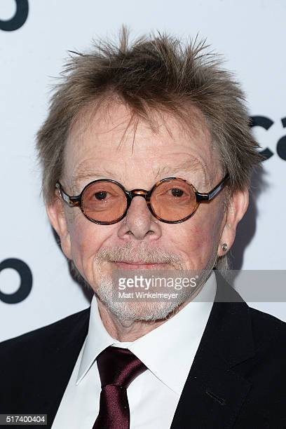 President and Chairman Paul Williams arrives at the 2016 ASCAP Screen Music Awards at The Beverly Hilton Hotel on March 24 2016 in Beverly Hills...