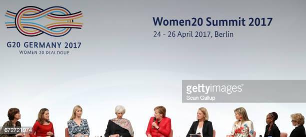 President and Chairwoman of Trumpf GmbH Nicola LeibingerKammueller Canadian Minister of Foreign Affairs Chrystia Freeland Ivanka Trump daughter of US...