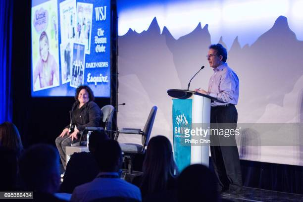 President and Chief Creative Officer Disney Channels Worldwide Gary Marsh introduces Terri Minsky Disney Show Creator of 'Andi Mack' during his...