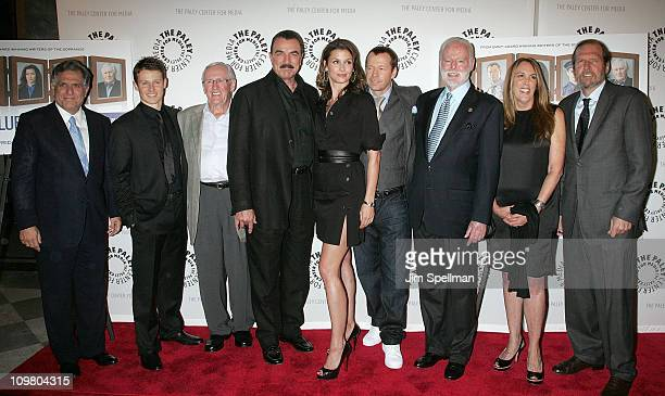 President and Chief Executive Officer of CBS Corporation Les Moonves Actors Will Estes Len Cariou Tom Selleck Bridget Moynahan Donnie Wahlberg...