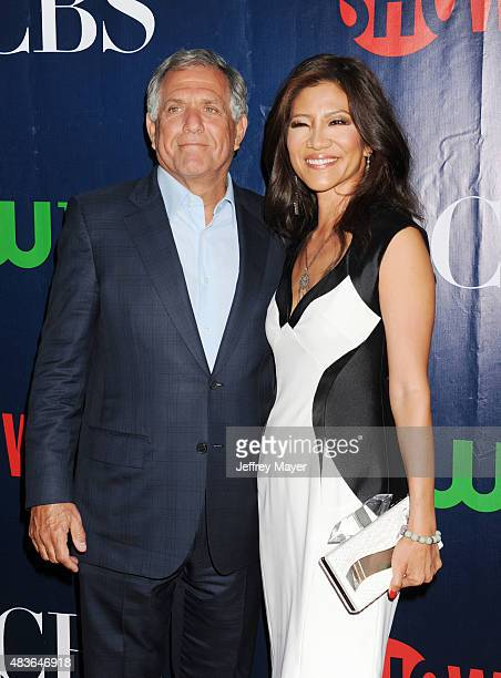 President and Chief Executive Officer of CBS Leslie Moonves and TV personality Julie Chen arrive at the CBS CW And Showtime 2015 Summer TCA Party at...
