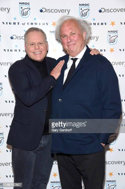 President and chief executive officer of Discovery Inc David Zaslav and event cochair Graydon Carter attend the NRDC's 'Night of Comedy' benefit at...