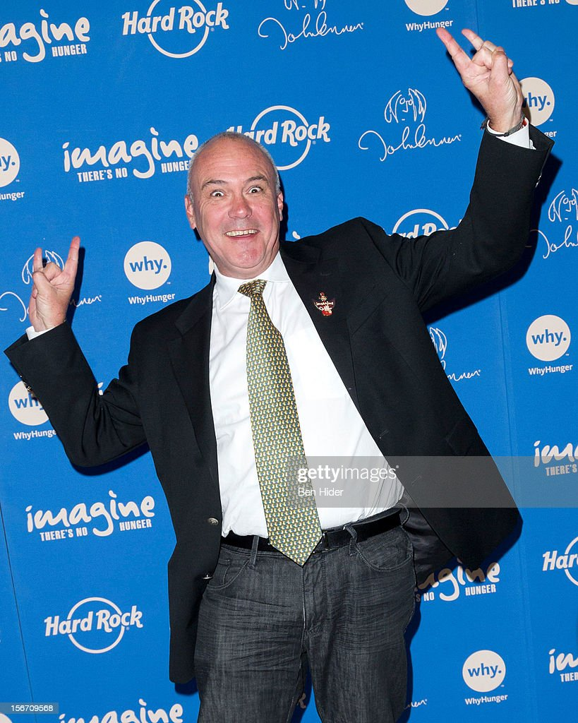 President and Chief Executive Officer of Hard Rock Hamish Dodds attends the 5th annual Imagine There's No Hunger Campaign launch at the Hard Rock Cafe, Times Square on November 19, 2012 in New York City.
