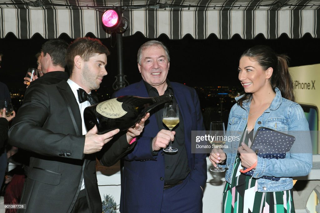 President and Chief Executive Officer of Moet Hennessy USA Inc. Jim Clerkin (C) and Rachel Clerkin (far R) attend W Magazine's Celebration of its 'Best Performances' Portfolio and the Golden Globes with Audi, Dior, and Dom Perignon at Chateau Marmont on January 4, 2018 in Los Angeles, California.