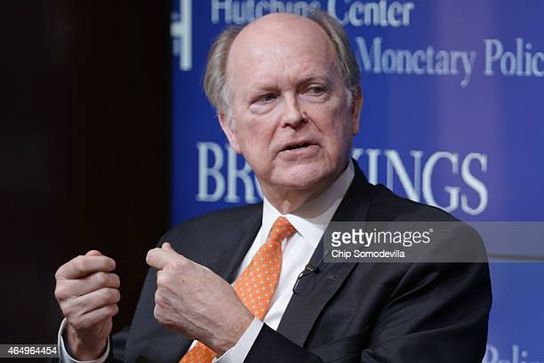 President and Chief Executive Officer of the Federal Reserve Bank of Philadelphia Charles Plosser participates in a panel discussion about the...