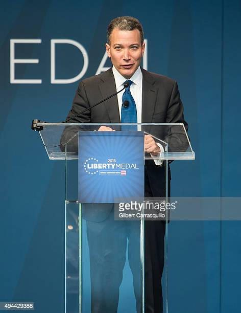 President and Chief Executive Officer of the National Constitution Center Jeffrey Rosen attends 2015 Liberty Medal Ceremony honoring His Holiness the...